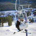 Honey, Let's Ditch the Wedding Party and Go Snowboarding.  Do you Think anyone Will Notice?