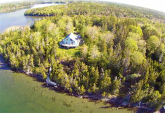 One of Two Homes with Private Sandy Beach and Dock