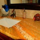 Undermount Sink and Waterfall Faucet