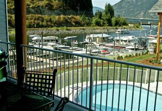 Like New Luxury Waterfront Condo with Boat Slip on Shuswap's Sicamous Narrows.