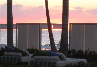 Sunset from the Cabana