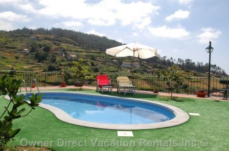 House with swimming pool on the south coast of Madeira island, ID#202197