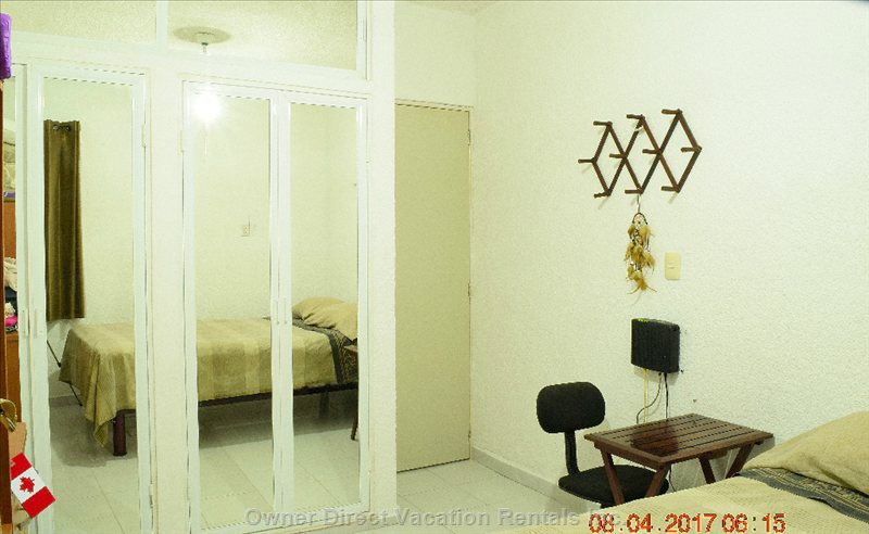 Guestroom with Two Double Mirror Doors