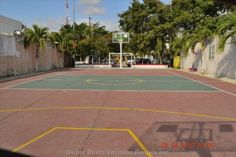 Basketball Court at 10 Meters from the House.