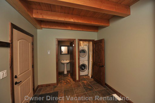 Mud Room off of the Garage. Washer and Dryer. Main Floor 1/2 Bath. Heated Floors