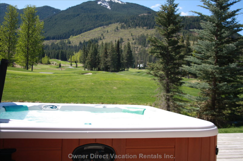 Soak in the Private Hot Tub after a Day of Golfing at Greywolf Golf Course
