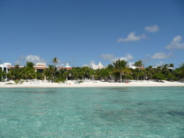 Our Villa from the Sparkling Bay...great for Snorkeling