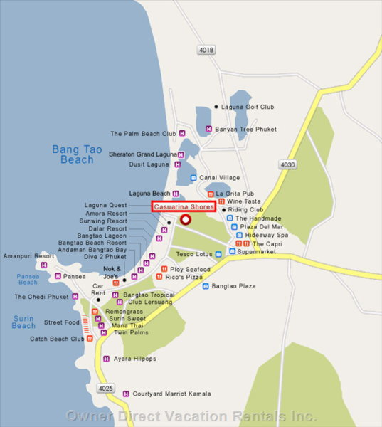 Location Map - Casuarina Shores Surrounded by the Famous Laguna Resorts and Villas.