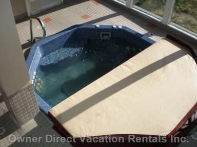 Eight Person Hot Tub Facing Directly onto Perfection Ski Run