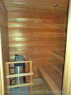 2 Tiered Cedar Lined - Private Sauna in your Unit