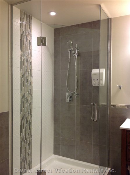 Large Tile/ Glass Shower