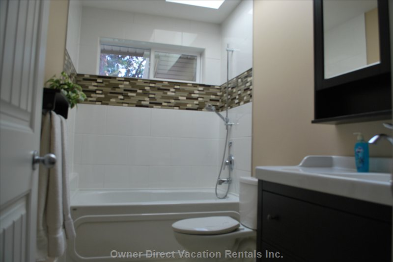 Enjoy the Second Full Bathroom with Natural Light. Have a Bath and Enjoy the Stars Above.