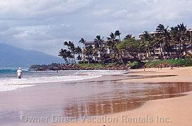 "Golden Sand, Turquoise Ocean Water and the ""Kihei Experience.""--Kamole Ii Beach"