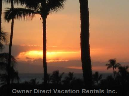 Spectacular Sunsets View from the Lanai.