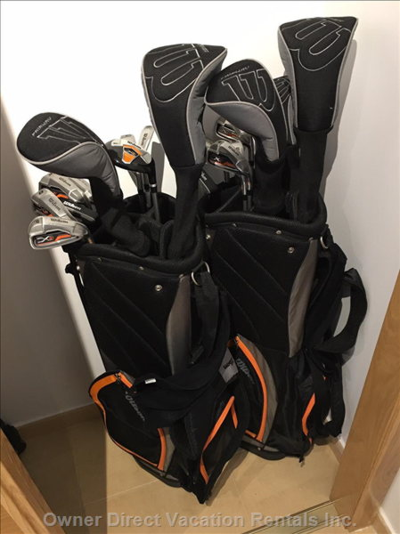 Two Sets of Wilson Golf Clubs are Provided for Guests to Borrow.