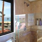 Master Shower with Body Wash, Shampoo, Conditioner, and Not a Bad View !