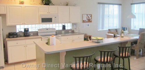 Dining Kitchen - with all the Crockery and Utensils you Could Wish For.