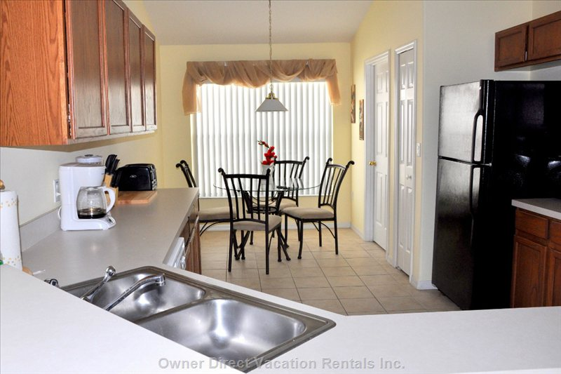 Spacious, well-Equipped Galley Kitchen with Lots of Light and Counter Space ...