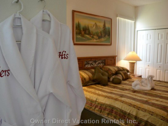 Bathrobes for King Master En Suite