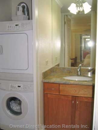 New Washer & Dryer in Unit for Convenience