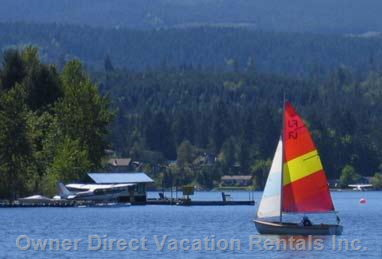 Sailing on Shawnigan Lake.