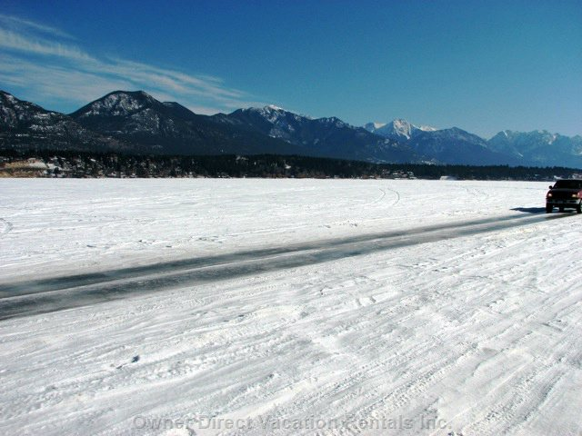 Drive across the Lake Windermere Ice Highway (at your Own Risk).  Best Experienced in the Winter :-)