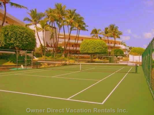 Large Tennis Courts for Sea Cliff Resort Guests Only