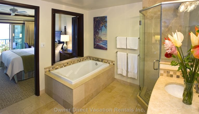 A Deep Soaking Tub and a Shower in this Master Bath.