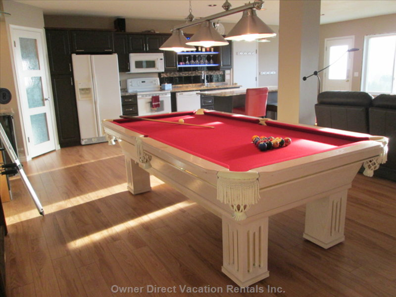 Play Pool with your Family and Friends When you are Not Enjoying the Beautiful Outdoors.