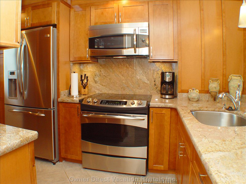 Top-the-Line Ge Profile Appliances and Granite Counters Installed with our Recent Remodel