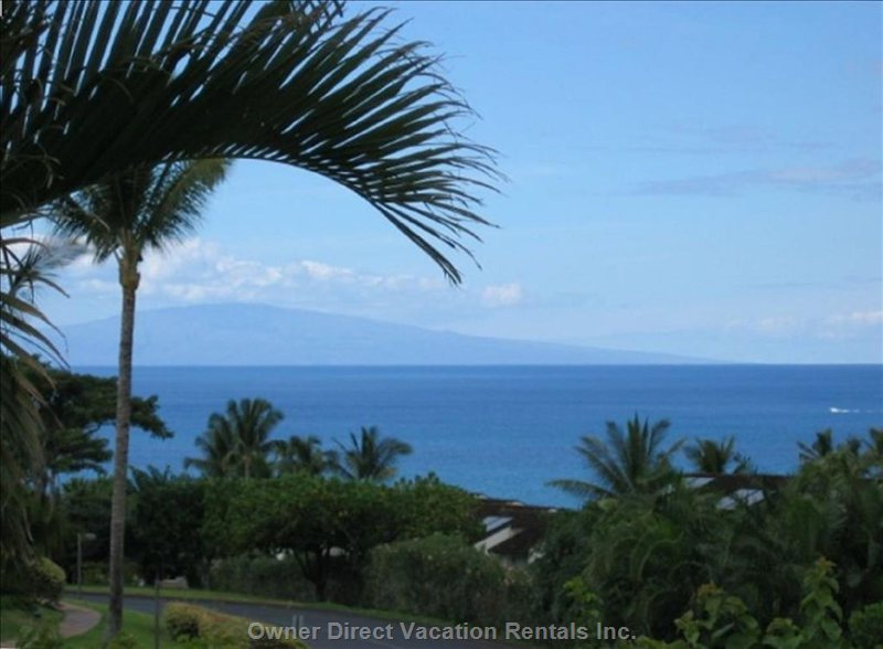 View of Island of Lanai from your Lanai.