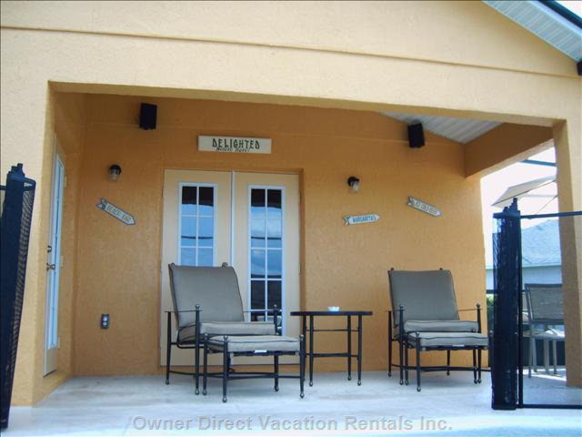 Covered Area near Pool---gas Grill Available