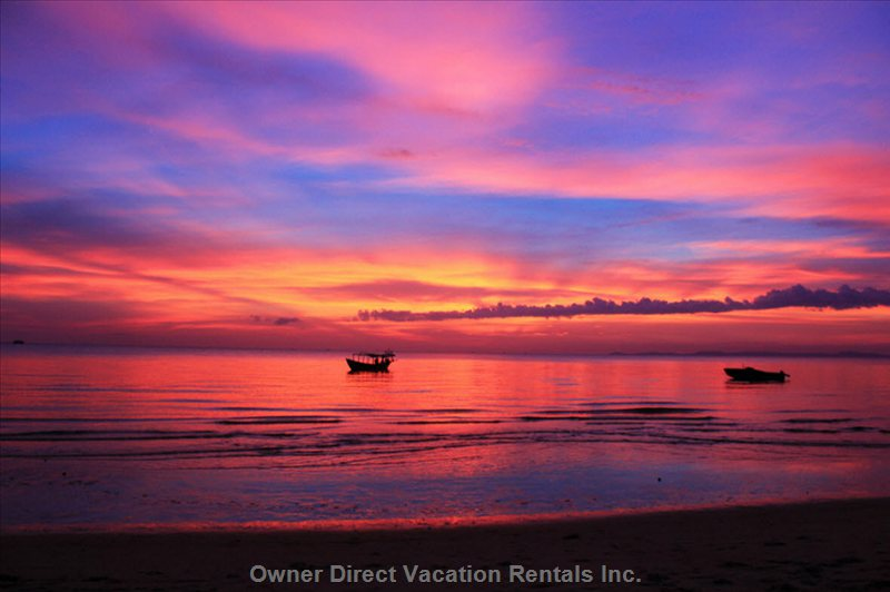 Khlong Khong Beach Sunset