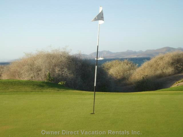 View of the Sea and Mountains from Golf Course