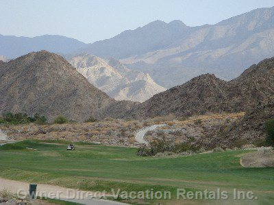 Area Surrounded by Mountains and Golf Courses.