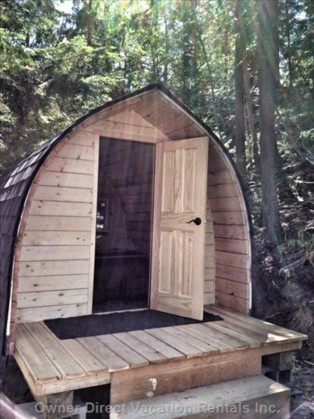 The Four Season Pod is Located Close to the Chalet and has Heat and Electricity