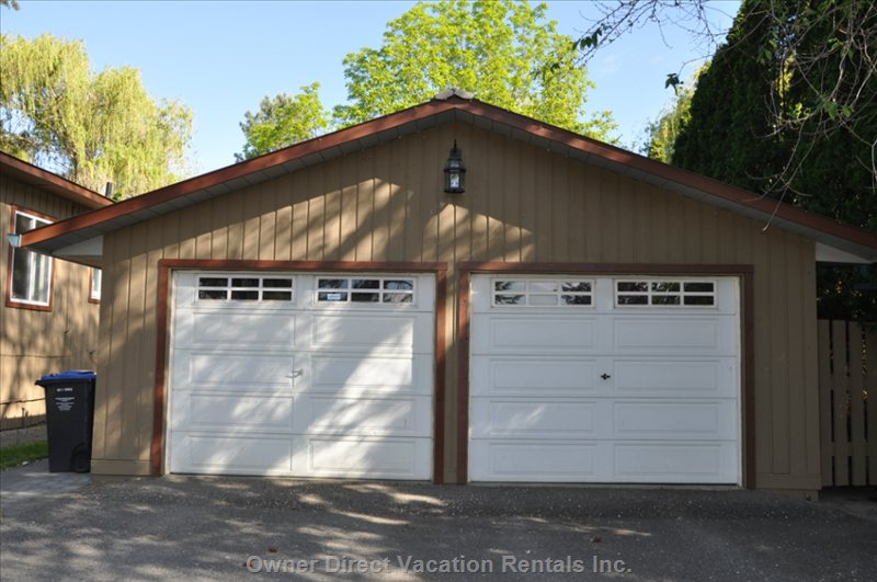 Front of Detached Garage (Coach House on Ground Level in Back).
