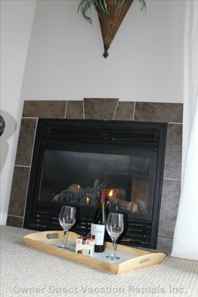 Cozy Fireplace for Enjoying after a Great Ski Day.