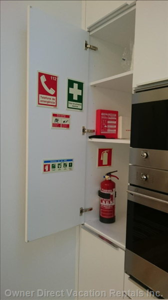 Kitchen Cabinet with Emergency Equipment