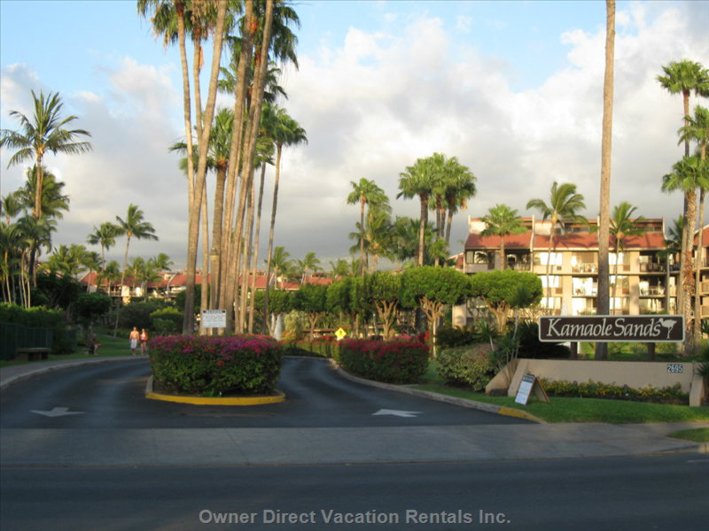 Entry to Kamaole Sands Condo Resort