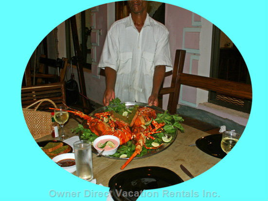 Fresh Seafood Available - Seafood Prepared by the Villa Chef, Chef and Staff is Included in the Rental Rates.