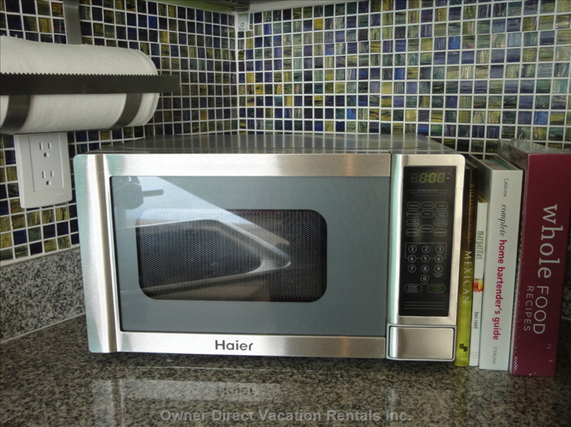Haier Microwave and Cookbooks