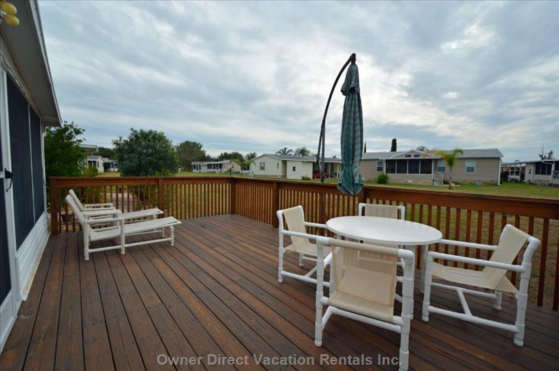 Deck Area - this 240 Sq Ft Area has Recently Been Added for your Personal Outdoor Enjoyment.