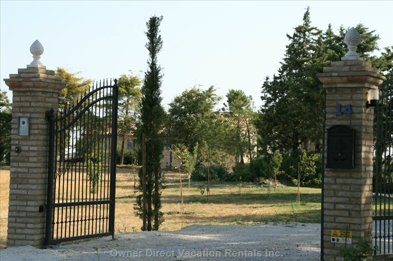 The Gate Opening to the Property