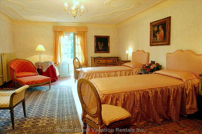 "The ""Rose Room"" is the Largest Beedroom, it is Twin Bedded and an Extra Bed is Available upon Request"
