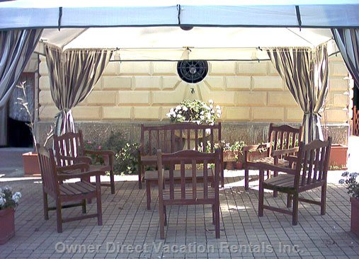 Outdoor Gazebo with Armchairs  and Sofa
