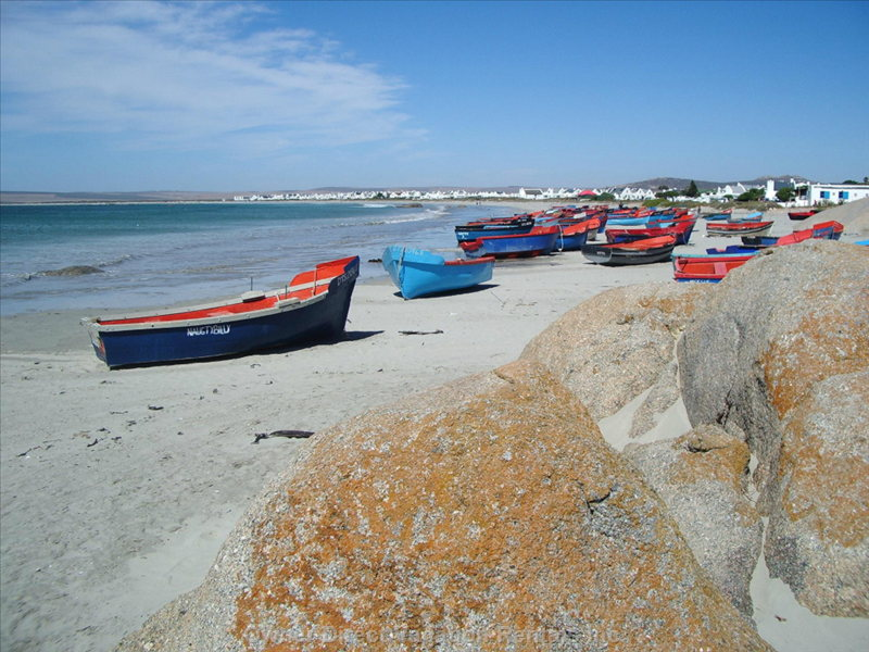 Fishing Boats on the Main Beach at Paternoster 500m from the Cottage