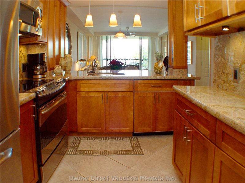 Lots of Room and Cabinets in this Gourmet Equipped Kitchen - the Dishwasher is to the Right of the Sink.