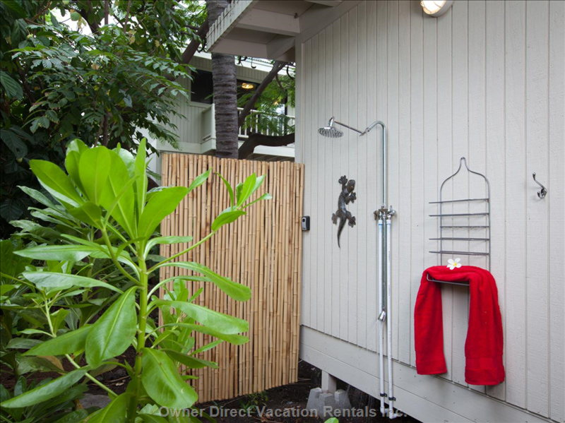 Back Bedroom Pod Outdoor Shower