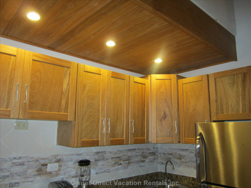 Luxury Brand New Cabinets with Spotlights